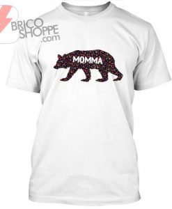 Momma bear flower pattern TShirt
