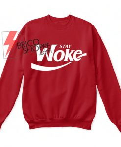 Sta Woke Hanes Unisex Crewneck Sweatshirt