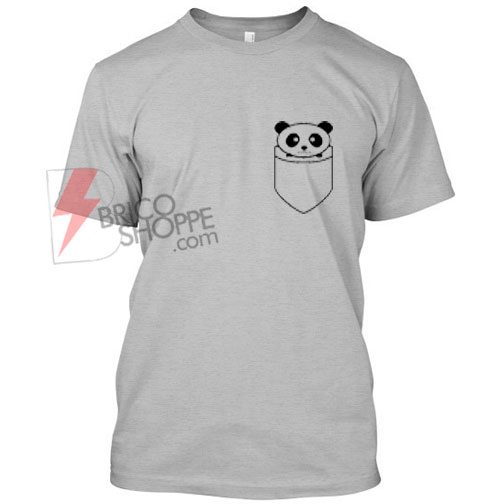 Panda Shirt pocket T Shirt