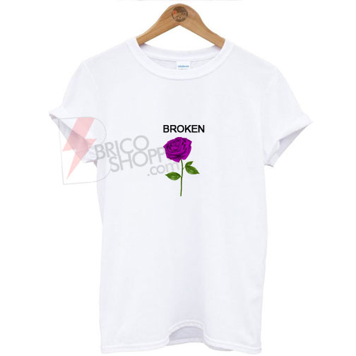 Broken purple Rose T-Shirt
