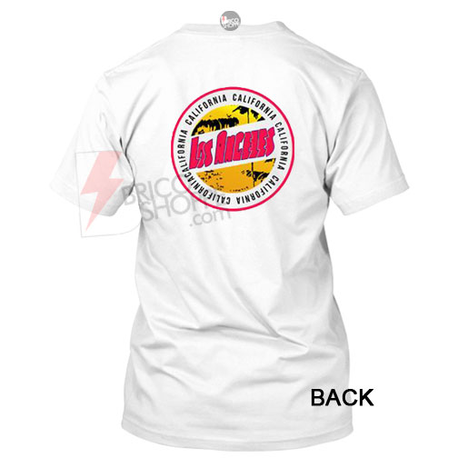 California los angeles t shirt back for Los angeles california shirt
