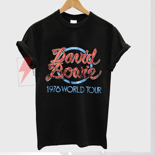 Best T-shirt Black David Bowie 1978 World Tour on Sale