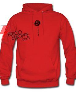 Rose Black hoodie