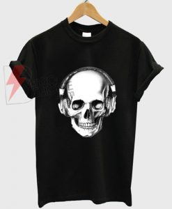 Skull Headphones T-shirt On Sale