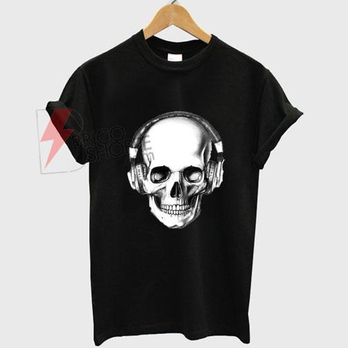 Skull Headphones T-shirt On Sale