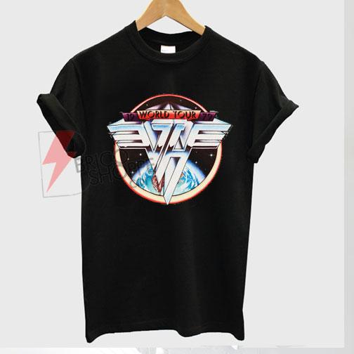 Best T-shirt Van Halen Shirt Vintage tshirt 1979 on Sale