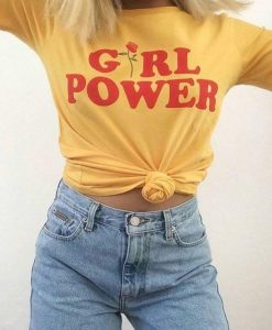 GIRL POWER - Shirt Yellow