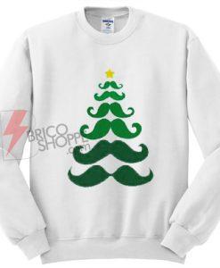 mustache christmas tree