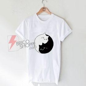 Yin Yang Cats T-Shirt On Sale