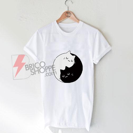 Yin Yang Cats T-Shirt On Sale