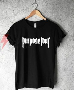 Justin Bieber Purpose Tour Logo T-Shirt On Sale