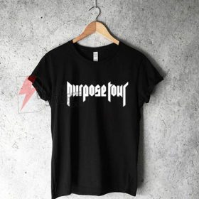 Justin Bieber Purpose Tour Logo T-Shirt On Sale