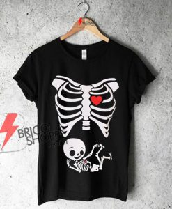 Maternity-Halloween-Skeleton-Baby-T-Shirt-On-Sale