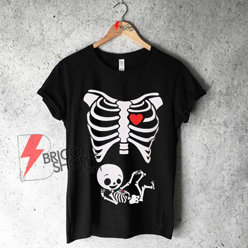 maternity halloween skeleton baby t shirt on sale