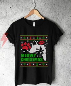 Meowy - Ugly Christmas T-Shirt On Sale