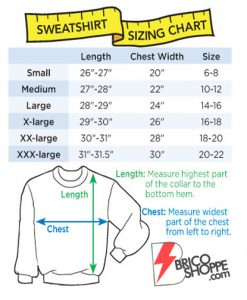 SweatShirt-Size-Chart