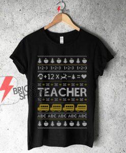 Teacher-Ugly-Christmas-sweater-Teachers-Xmas-Gift-Maternity-Shirt