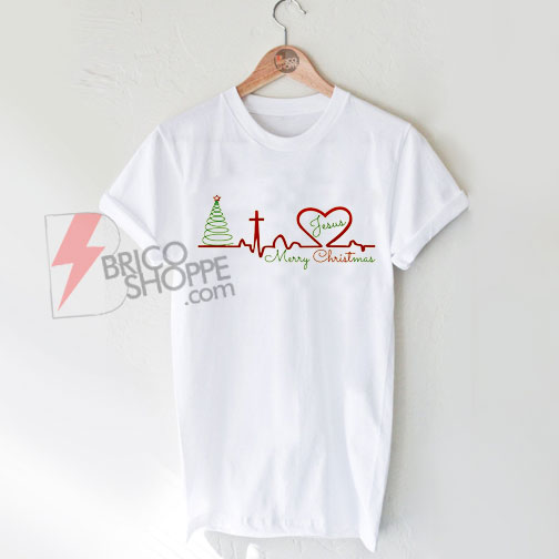 Xmas Heartbeat T-Shirts On Sale