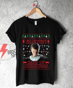 Stranger-Things-Eleven-Days-Of-Christmas-Knit-Men's-Baseball-Long-Sleeved-T-Shirt