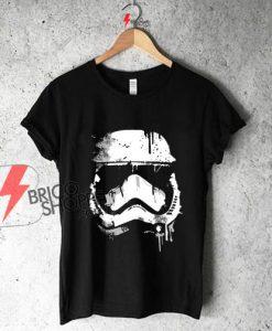 Stormtrooper head Star wars art Shirt on Sale