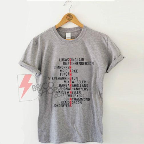 Stranger things Name New Shirt On Sale