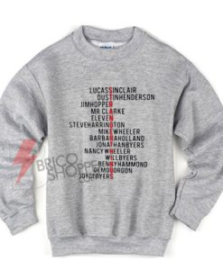 Stranger things Name New Sweatshirt On Sale