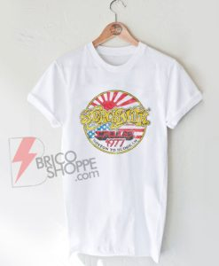 Aerosmith-Concert-Tour-T-shirt---Boston-to-Budokan-1977-Vintage-Shirt-On-Sale