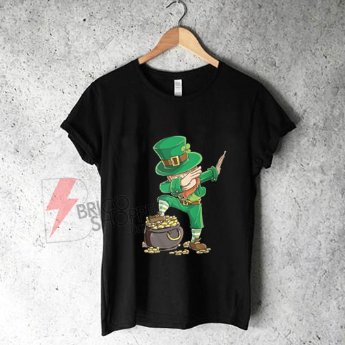 Dabbing-Leprechaun-T-shirt-Funny-Dab-St-Patricks-Day-Shirt-On-Sale