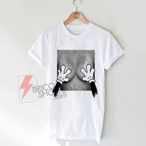 Mickey-Mouse-Hands-Over-Breast-T-Shirt-On-Sale