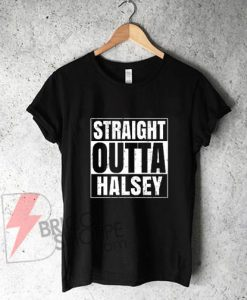 Straight Outta Halsey Oregon City Compton Parody T-Shirt On Sale