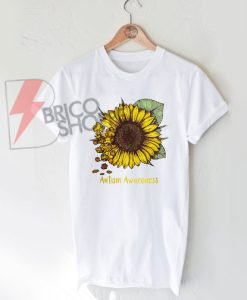 Autism awareness sunflower shirt