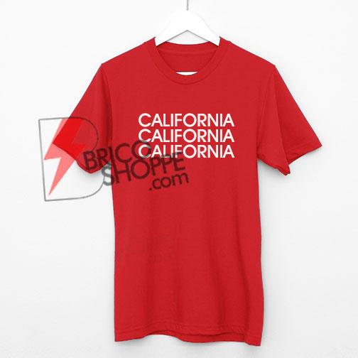 California Tumblr Quotes Red T-Shirt