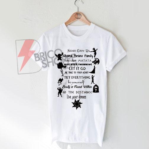 bd48d5d3 Disney Quote T-shirt On Sale - bricoshoppe.com
