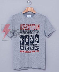 Led Zeppelin - Zeppelin LA 1975 Tie Dye T-Shirt On Sale