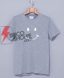 Smiley Face Grey T-shirt On Sale