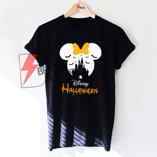 3421cbbb9 Disney Halloween T-Shirt, Mickey Minnie Mouse Disney Castle T-Shirt ...