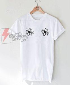 Flower Boobs T Shirt On Sale