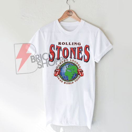 Rolling Stones Voodoo Lounge World Tour T-Shirt On Sale
