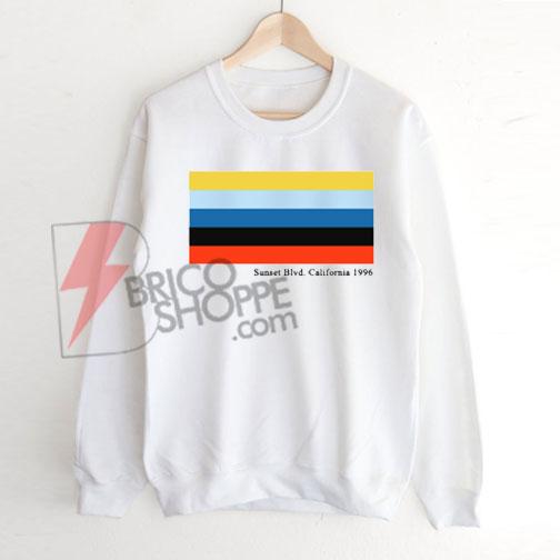 Sunset Blvd. California 1996 Sweatshirt On sale, Cute and Comfy Sweatshirt