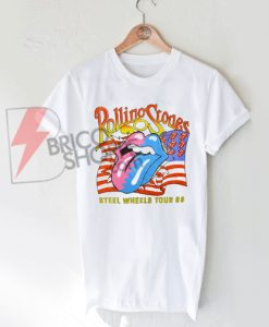 The Rolling Stones Steel Wheels Tour T Shirt On Sale
