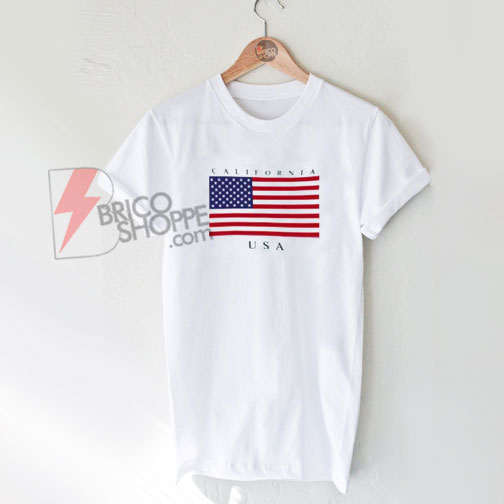 USA California State Flag Shirt On Sale