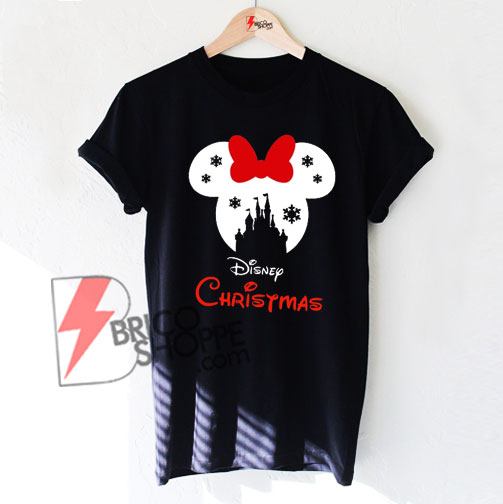 Christmas Shirt.Disney Snowflake Castle Shirt Disney Christmas Shirts Mickey Minnie Mouse T Shirts
