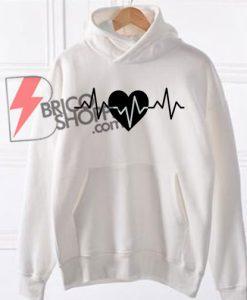 Heart pulse hoodie on sale