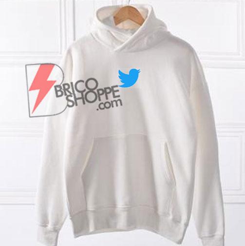 twitter Logo Hoodie Shirt On Sale