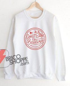 Don't-Stop-Believin---Christmas-Sweatshirt-On-Sale