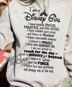 I Am Disney Girl Sweatshirt On Sale