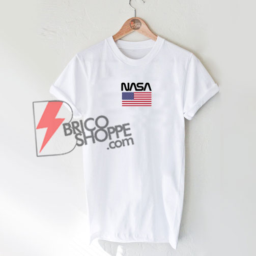 NASA USA Flag T-shirt On Sale