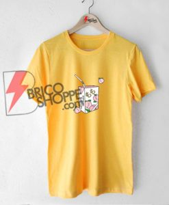Peach Juice Japanese T-Shirt On Sale