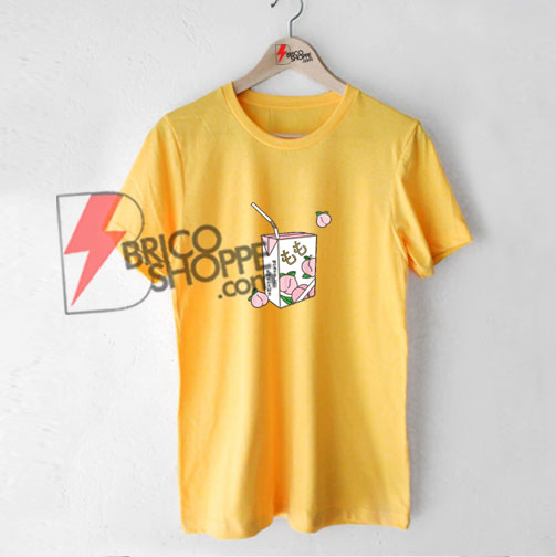 Peach Juice Japanese T-Shirt On Sale