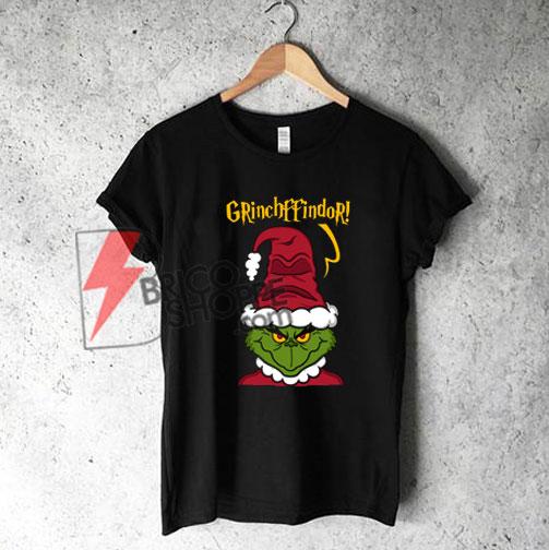 Harry Potter Christmas Shirt.Grinchffindor T Shirt Harry Potter Christmas T Shirt On Sale